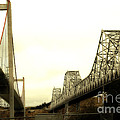 The Two Carquinez Bridges At Crockett and Vallejo California . aka Alfred Zampa Memorial Bridge . 7D8830 Poster by Wingsdomain Art and Photography