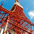 Tokyo tower face cloudy sky Poster by Ulrich Schade
