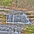Top of the Upper Falls Print by Shirley Tinkham