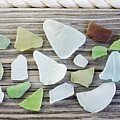 Usa, New York State, New York City, Brooklyn, Collection Of Sea Glass Poster by Jamie Grill