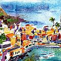 Vernazza Cinque Terre Italy Print by Ginette Fine Art LLC Ginette Callaway