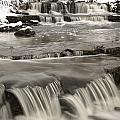 Waterfalls With Fresh Snow Thunder Bay Print by Susan Dykstra