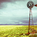 Windmill Against Autumn Sky Print by Gordon Wood