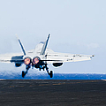 An Fa-18e Super Hornet Launches Print by Stocktrek Images