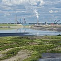 Oil Industry Pollution Print by David Nunuk