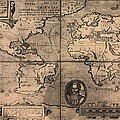 1581 Map By Nicola Van Sype, Showing Poster by Everett