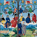 15th-century Family Tree Print by Photo Researchers