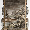 1731 Johann Scheuchzer Noah's Ark Flood Poster by Paul D Stewart