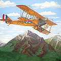 1917 Curtis Jenny JN4 used by the Army Air Corps Print by Mickael Bruce