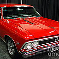 1966 Chevy Chevelle SS 396 . Red . 7D9278 Poster by Wingsdomain Art and Photography
