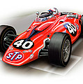 1967 STP Turbine Indy 500 Car Print by David Kyte