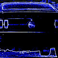 1969 Mustang in Neon 2 Print by Susan Bordelon