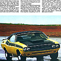 1971 Dodge Challenger T/A Poster by Digital Repro Depot