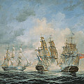 19th Century Naval Engagement in Home Waters Poster by Richard Willis