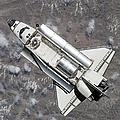 Aerial View Of Space Shuttle Discovery Poster by Stocktrek Images