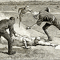 BASEBALL GAME, 1885 Poster by Granger
