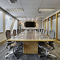 Conference Table and Chairs Print by Andersen Ross