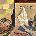 Kitchen Collage Print by Susan Schmitz