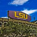 LSU Tiger Stadium Poster by Scott Pellegrin