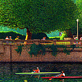 Scullers at Coal Harbour Poster by Neil Woodward