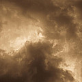 Sepia Clouds Print by David Pyatt
