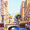Stockton Street Tunnel in San Francisco Print by Wingsdomain Art and Photography