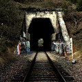 Train Tunnel At The Muir Trestle in Martinez California . 7D10220 Poster by Wingsdomain Art and Photography