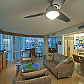 Usa Hi Honolulu Upscale Living Room Poster by Rob Tilley
