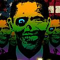 2012 Obama Zombie Horde Poster by Robert Phelps