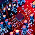 Circuit Board Print by Tek Image