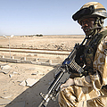 A British Army Soldier Provides Print by Andrew Chittock