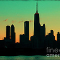 Chicago Skyline Cartoon Poster by Sophie Vigneault