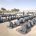 Iraqi Police Cadets Being Trained Poster by Andrew Chittock