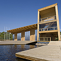 Lakeside Building And Dock Poster by Jaak Nilson