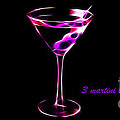 3 Martini Lunch Poster by Wingsdomain Art and Photography