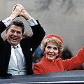 President Ronald Reagan And First Lady Print by Everett