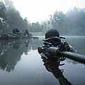 Special Operations Forces Combat Diver Print by Tom Weber