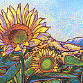 3 Sunflowers Print by Nadi Spencer