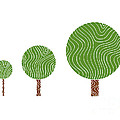 3 Trees Poster by Frank Tschakert