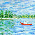 Maine Lobster Boat Poster by Collette Hurst