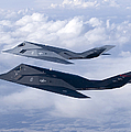 Two F-117 Nighthawk Stealth Fighters Print by HIGH-G Productions