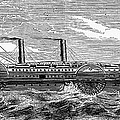 4 WHEEL STEAMSHIP, 1867 Print by Granger