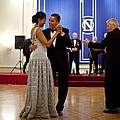 President And Michelle Obama Dance Poster by Everett