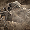 U.s. Army Ranger In Afghanistan Combat Poster by Tom Weber