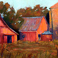 A BARN AT SUNSET Print by Cheryl Whitehall