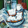 A Beignet Morning Poster by Dianne Parks