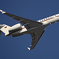 A Bombardier Global 5000 Vip Jet Print by Timm Ziegenthaler