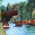 A Cheshire Canal Remembered Print by Isabella F Abbie Shores