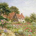A Cottage Garden Poster by Henry Sutton Palmer