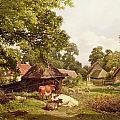 A Cottage Home in Surrey Poster by Edward Henry Holder
